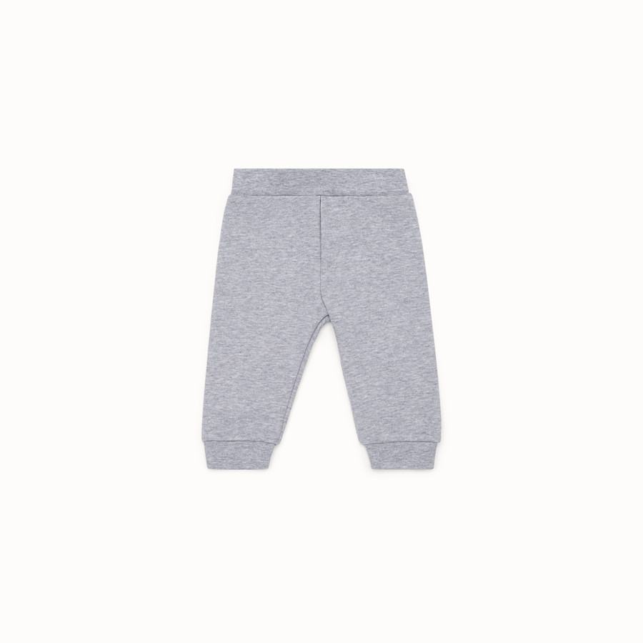 FENDI PANTS - Grey cotton trousers - view 1 detail