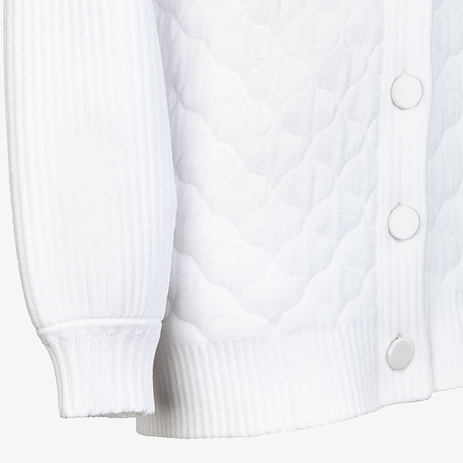 FENDI CARDIGAN - White viscose cardigan - view 3 detail