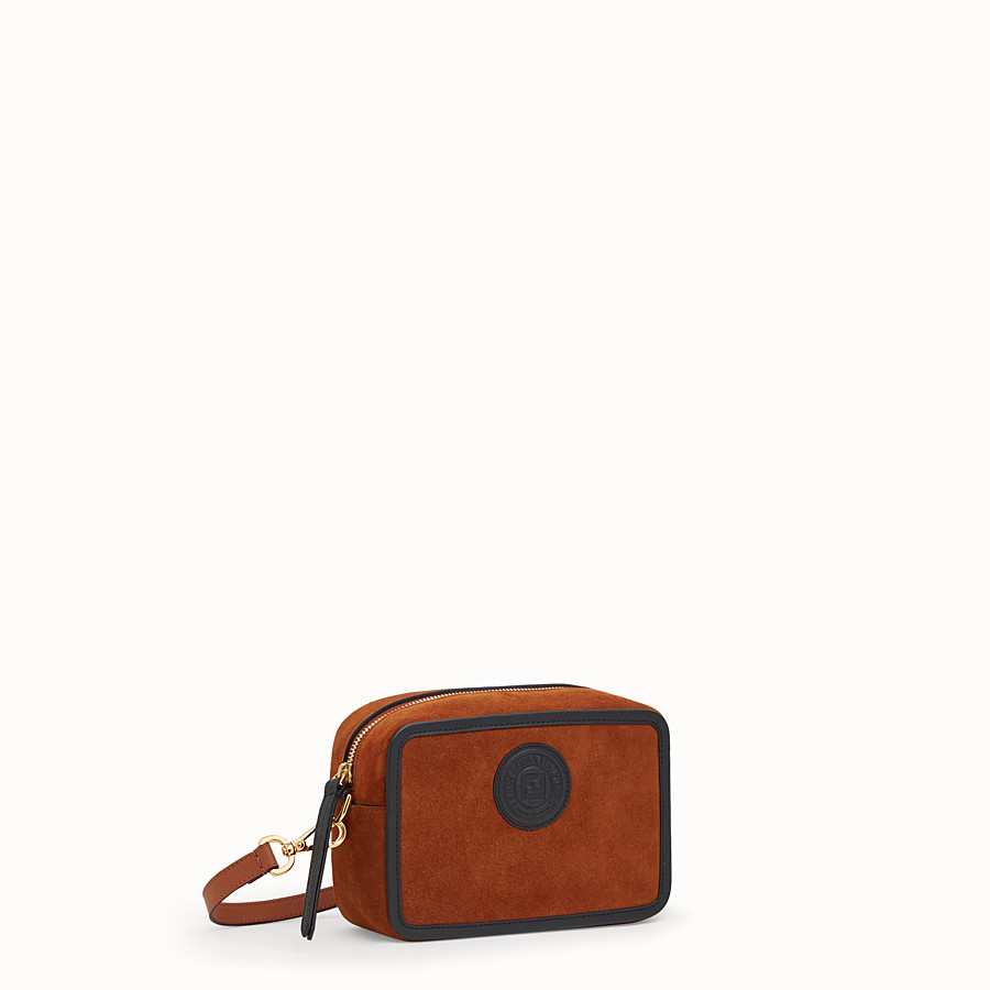 FENDI MINI CAMERA CASE - Natural-colour suede bag - view 2 detail