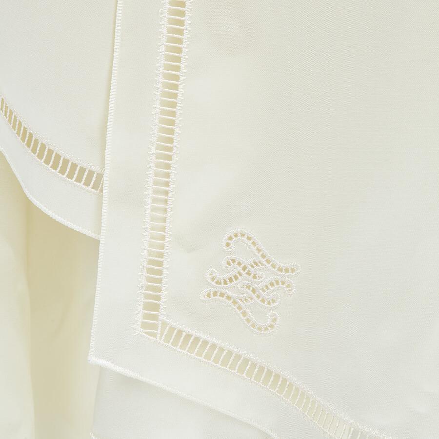 FENDI DRESS - White satin dress - view 3 detail