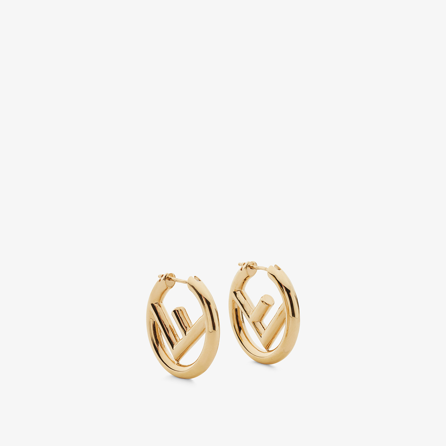 FENDI F IS FENDI EARRINGS - Gold earrings - view 1 detail