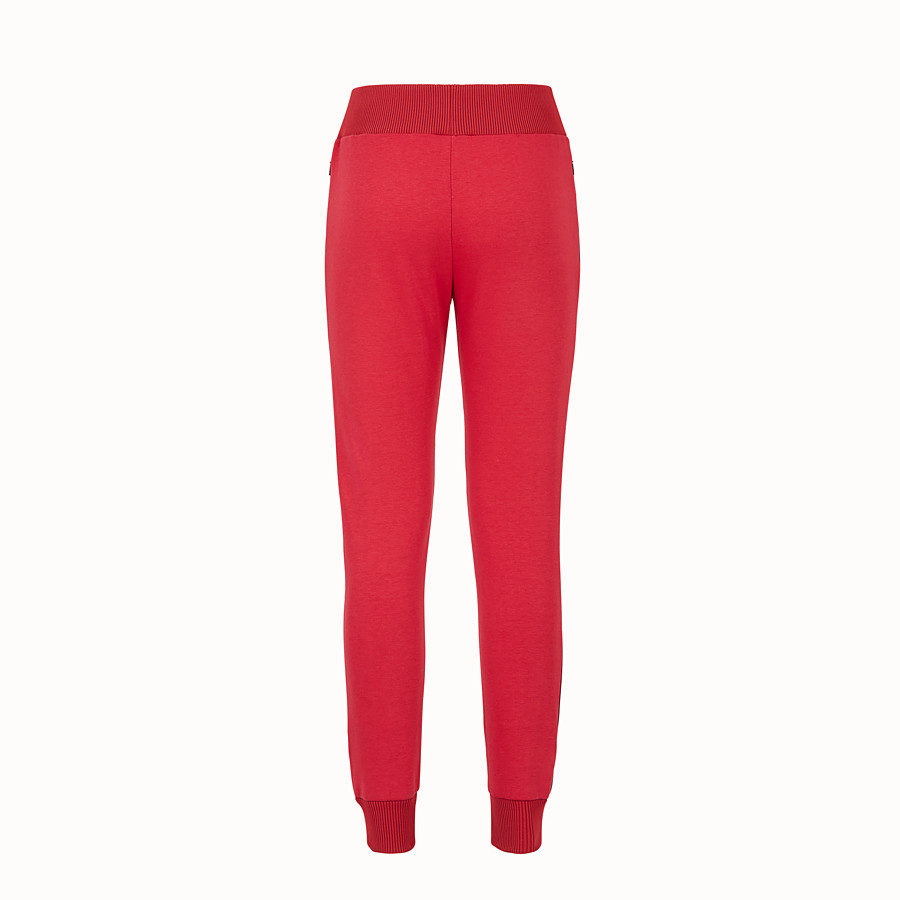 FENDI TROUSERS - Pink fabric jogging trousers - view 2 detail