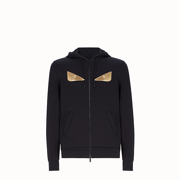 FENDI SWEATSHIRT - Black sweatshirt with hood - view 1 small thumbnail