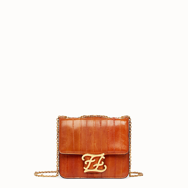 FENDI KARLIGRAPHY - Brown eel leather bag - view 1 small thumbnail