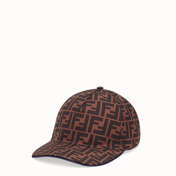 FENDI CHAPEAU - Casquette Baseball en tissu marron - view 1 small thumbnail