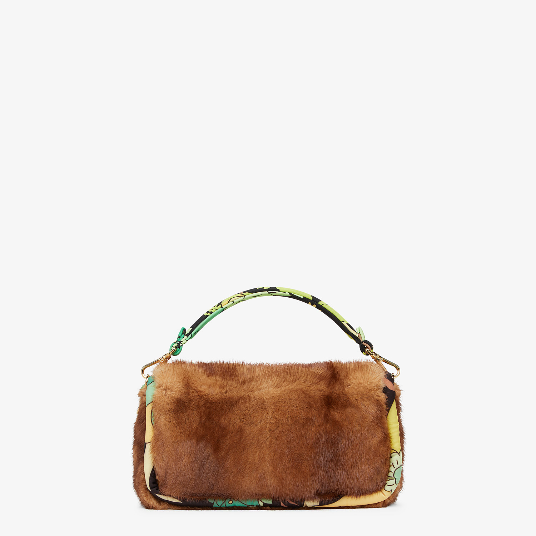 FENDI BAGUETTE - Brown mink bag - view 4 detail
