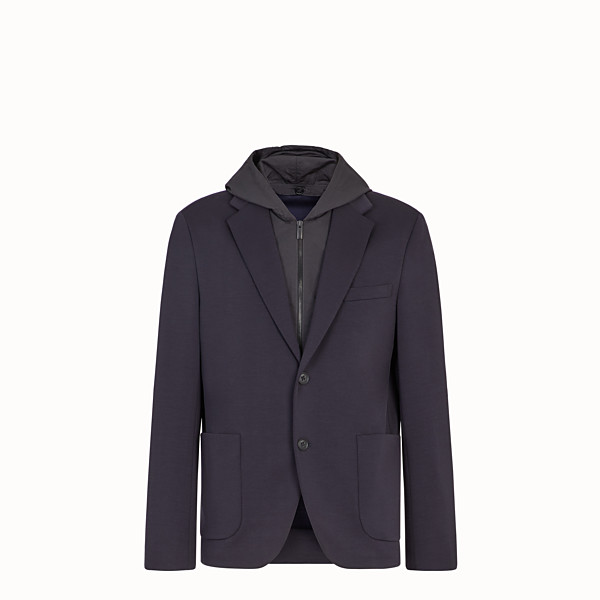 FENDI JACKET - Blue jersey blazer - view 1 small thumbnail