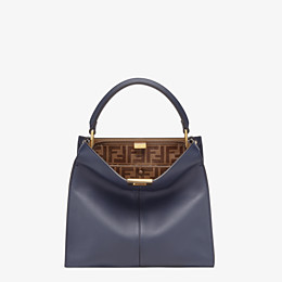 FENDI PEEKABOO X-LITE MEDIUM - Tasche aus Leder in Blau - view 2 thumbnail
