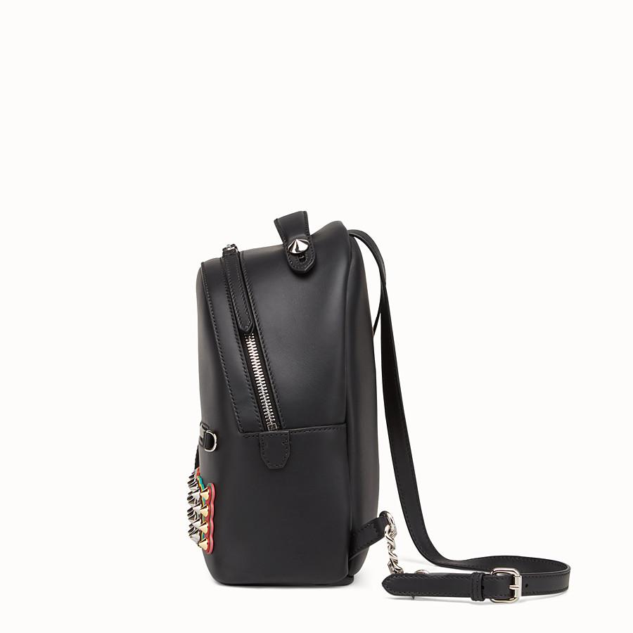 FENDI 迷你款式背包 - 黑色皮革背包 - view 2 detail