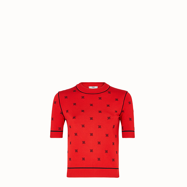 FENDI  - Red viscose jumper - view 1 small thumbnail