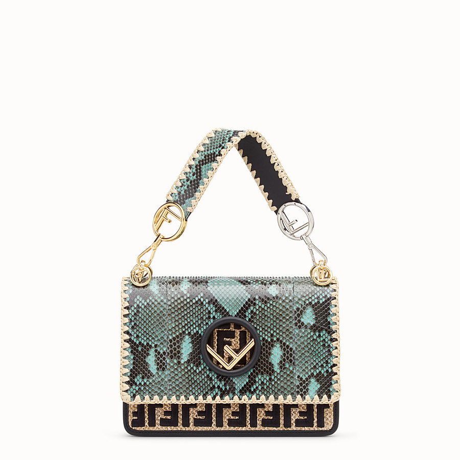 FENDI KAN I F - Green python bag - view 1 detail