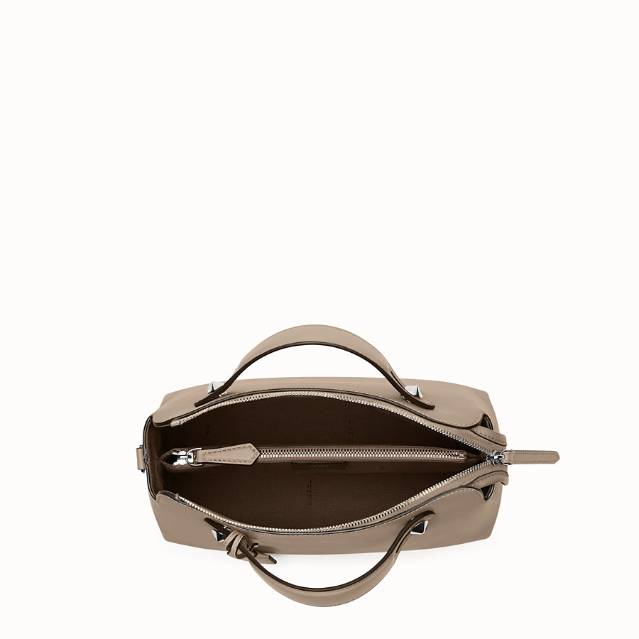 FENDI BY THE WAY REGULAR - Small Boston bag in beige leather - view 4 detail