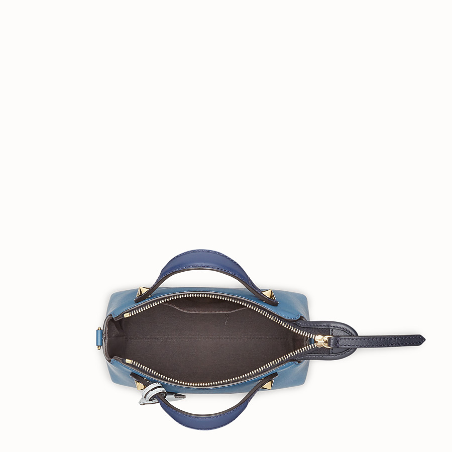 FENDI BY THE WAY MINI - Blue leather small Boston bag - view 4 detail