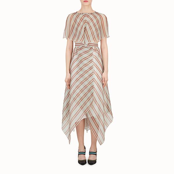 FENDI DRESS - Multicolour silk and jacquard dress - view 1 small thumbnail