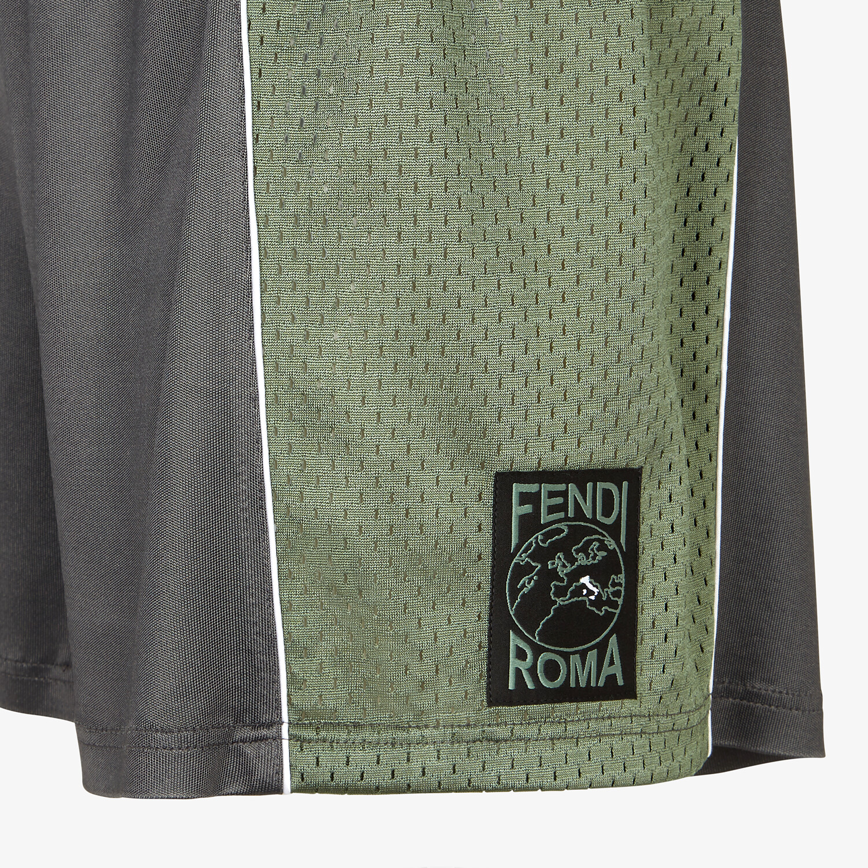 FENDI SHORTS - Gray tech fabric pants - view 3 detail