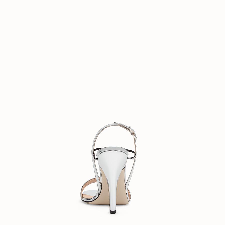 FENDI SANDALS - Silver leather sandals - view 3 detail