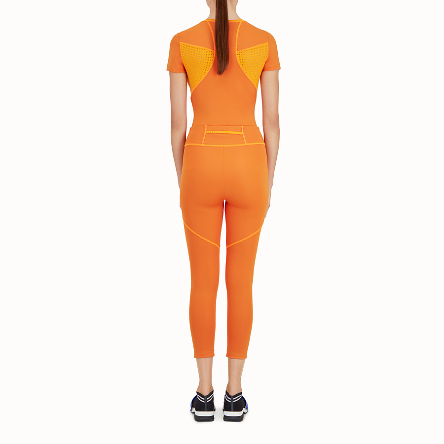 FENDI LEGGINGS - Orange tech fabric trousers - view 3 detail