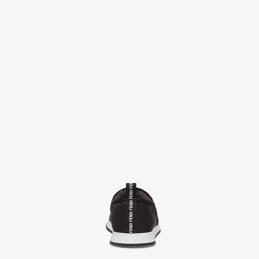 FENDI SIGNATURE - Black fabric sneakers - view 3 detail