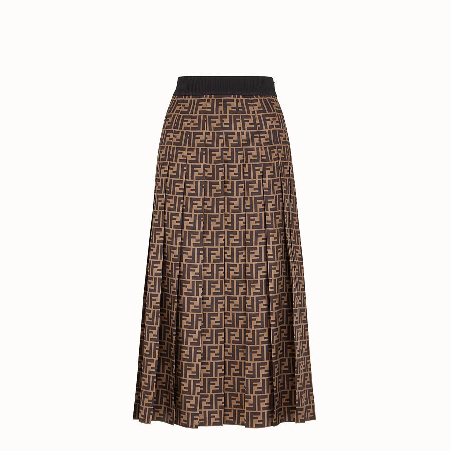 FENDI SKIRT - Brown twill skirt - view 1 detail