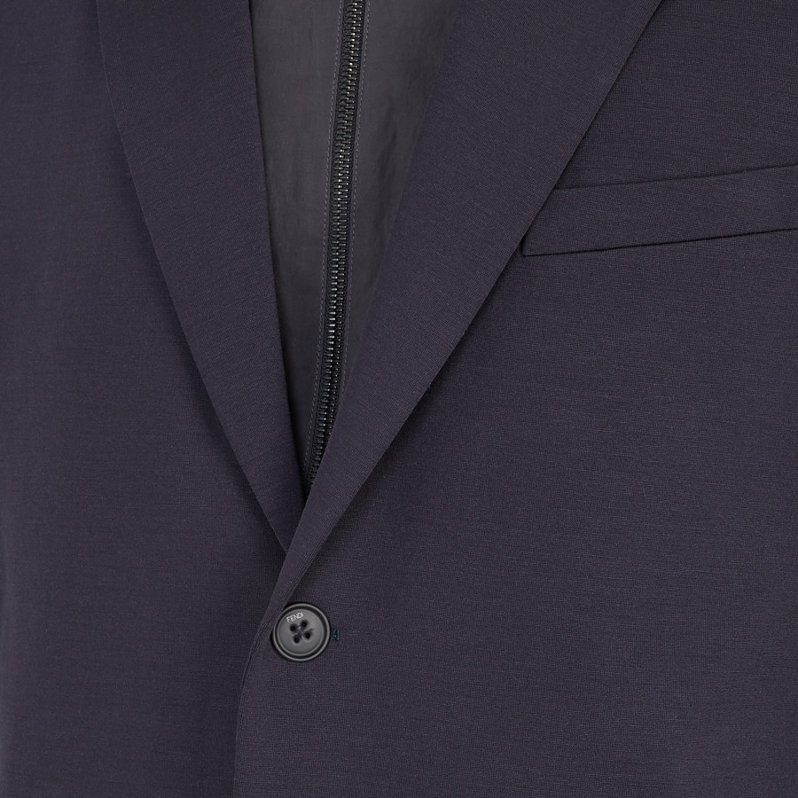 FENDI JACKET - Blue jersey blazer - view 3 detail