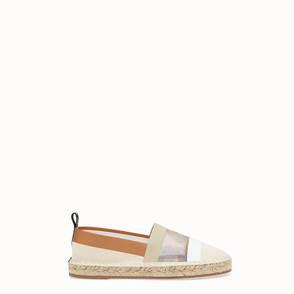 FENDI ESPADRILLAS - Espadrillas in canvas bianco - vista 1 thumbnail piccola