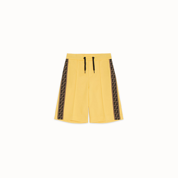 FENDI BERMUDAS - Yellow tech fabric bermudas - view 1 small thumbnail