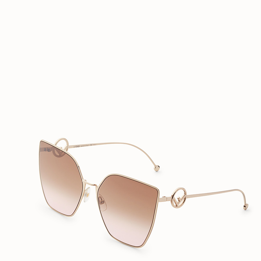 FENDI F IS FENDI - Gold-coloured sunglasses - view 2 detail