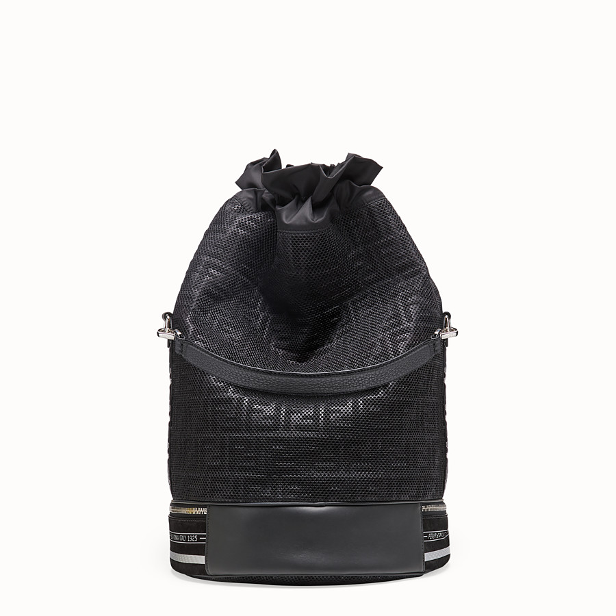 FENDI MON TRESOR - Мешок из сетчатой ткани черного цвета - view 3 detail