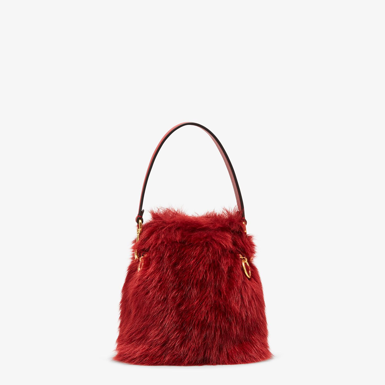 FENDI MON TRESOR - Minibag in montone rosso - vista 3 dettaglio
