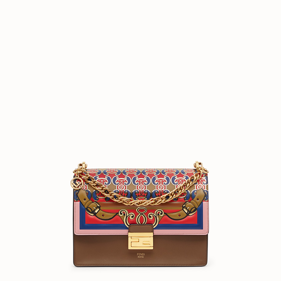 FENDI KAN U - Multicolour leather bag - view 1 detail