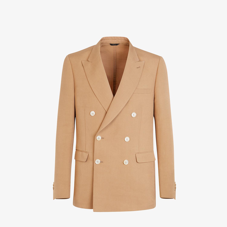 FENDI JACKET - Blazer in brown silk - view 1 detail