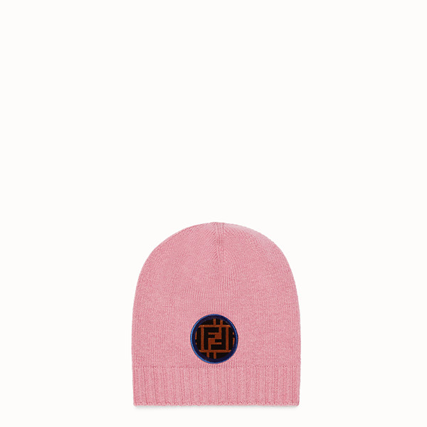 FENDI HAT - Pink wool and cashmere hat - view 1 small thumbnail