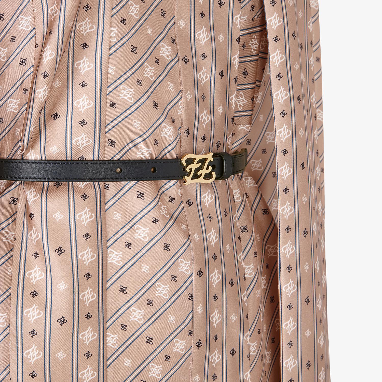 FENDI DRESS - Beige silk dress - view 3 detail