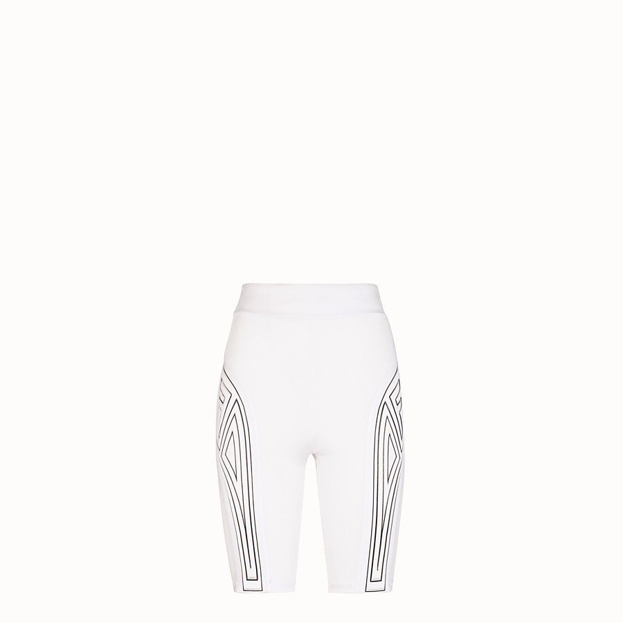 FENDI CYCLIST BERMUDAS - White lycra shorts - view 1 detail