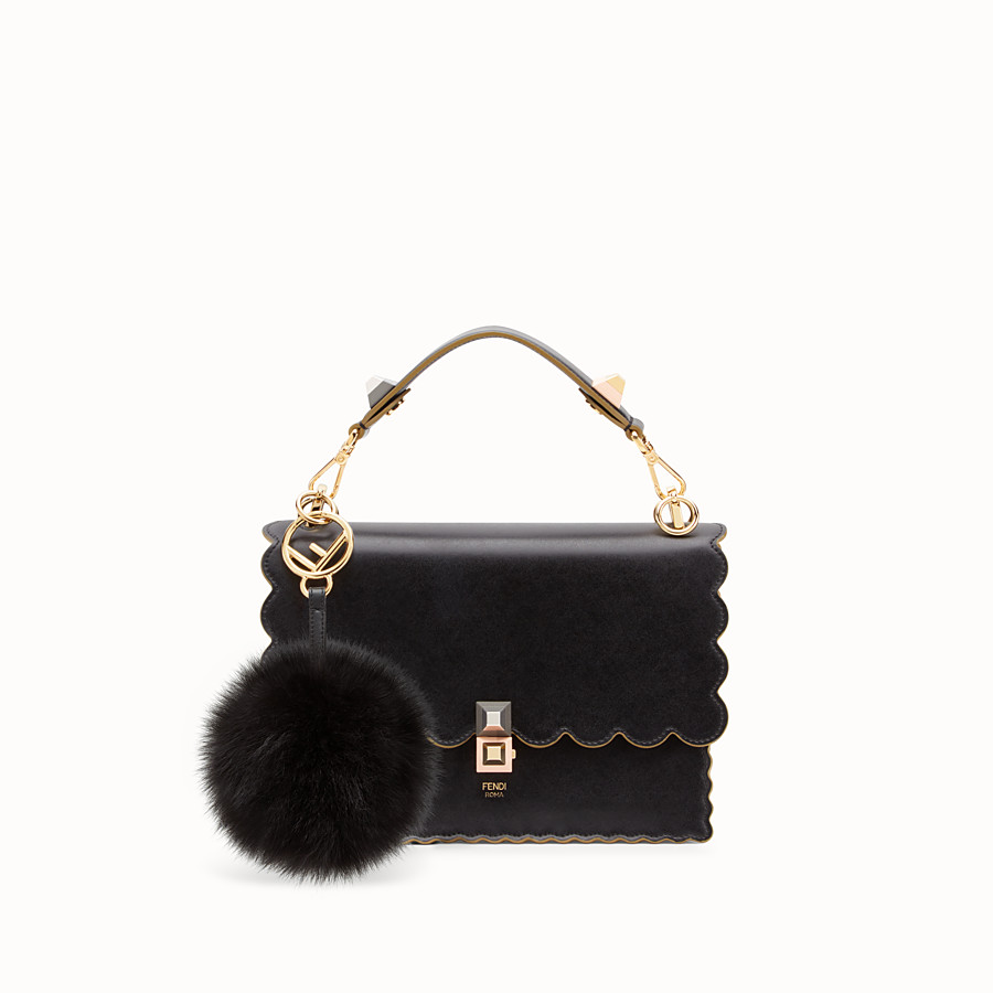 FENDI POM-POM CHARM - Black fox fur charm - view 2 detail
