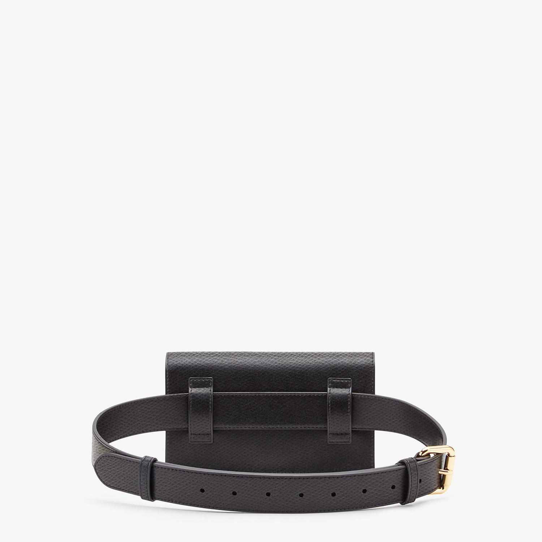 FENDI BELT BAG - Black leather belt bag - view 3 detail