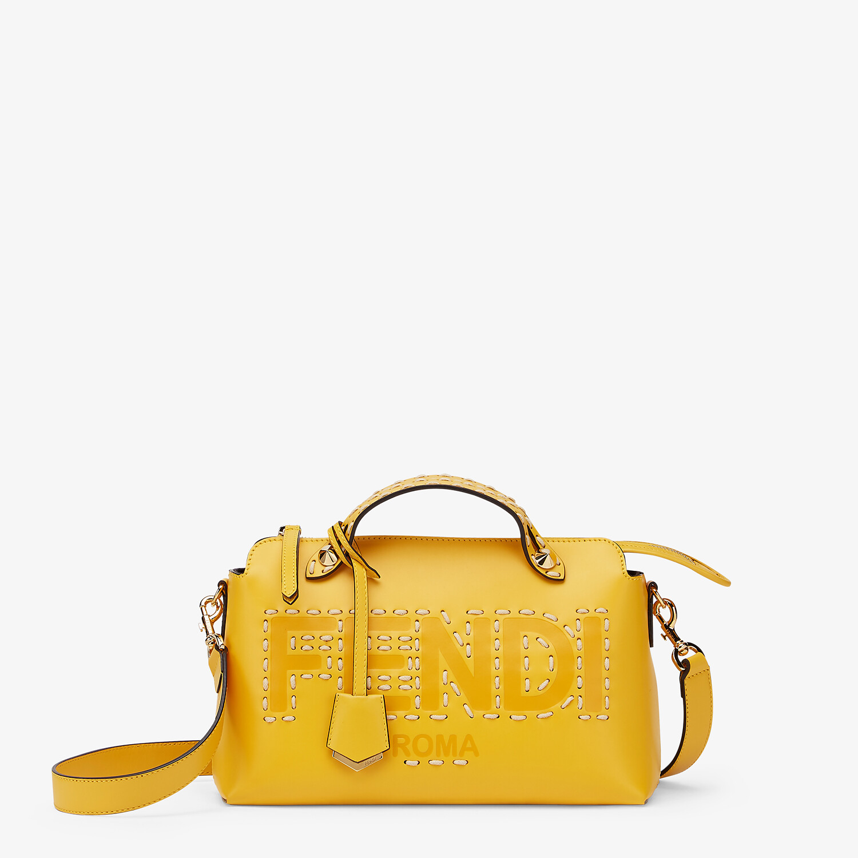 FENDI BY THE WAY MEDIUM - Yellow leather Boston bag - view 1 detail