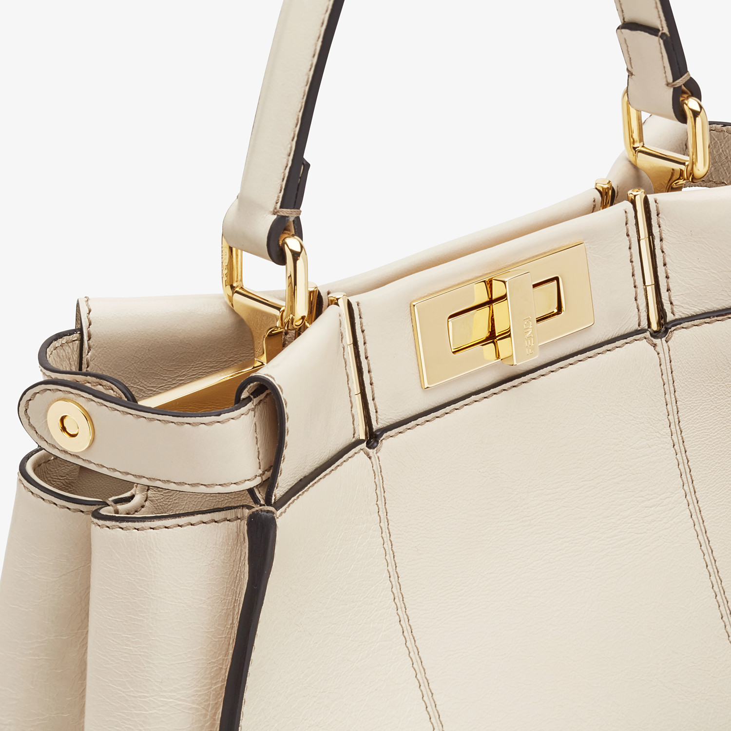 FENDI PEEKABOO ICONIC MEDIUM - White leather bag - view 7 detail