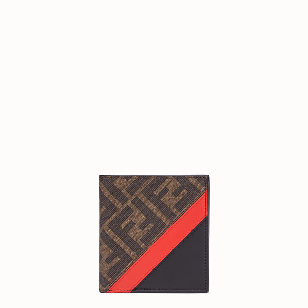 FENDI WALLET - Brown fabric bi-fold - view 1 small thumbnail