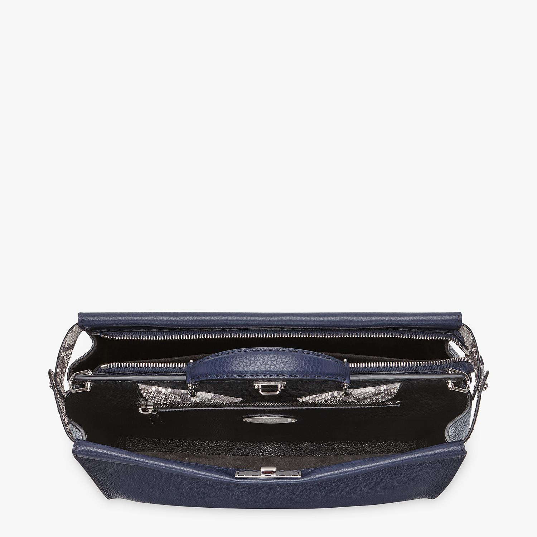 FENDI PEEKABOO MEDIUM - Blue Romano leather bag - view 4 detail