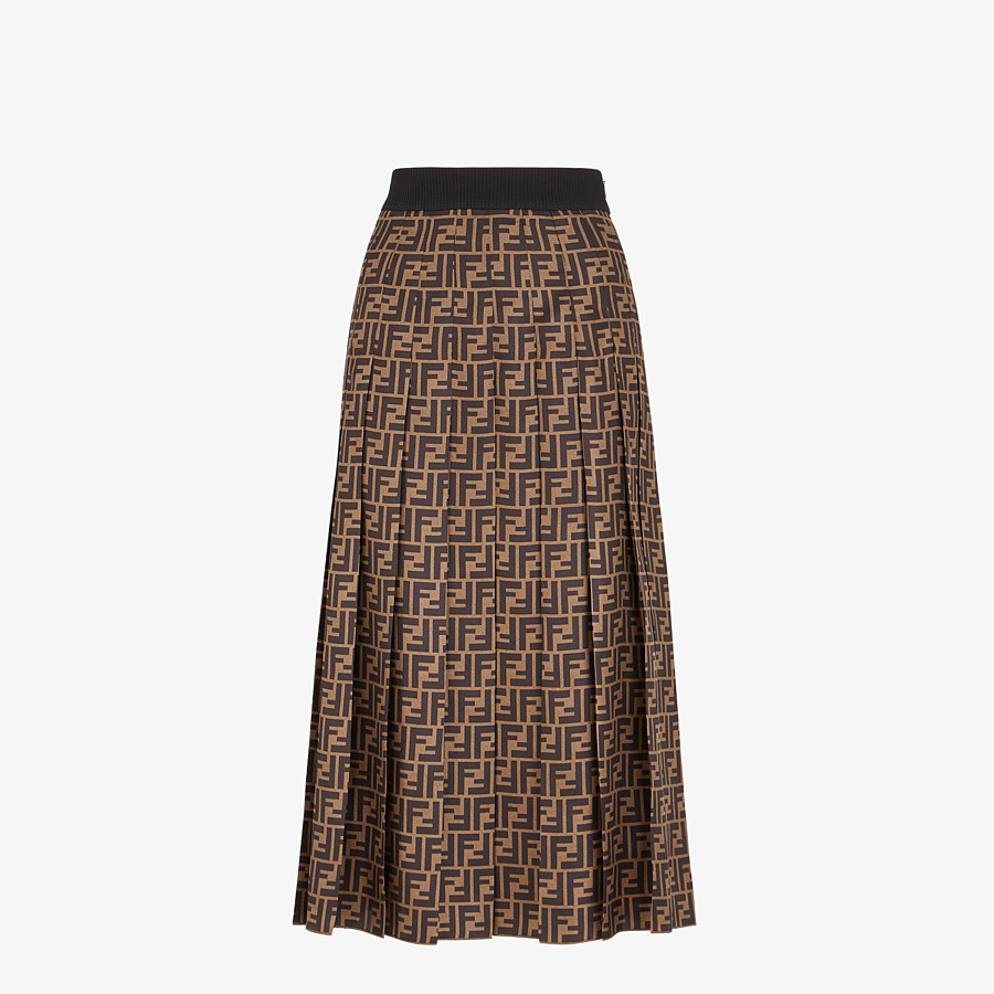 FENDI SKIRT - FF motif twill skirt - view 1 detail