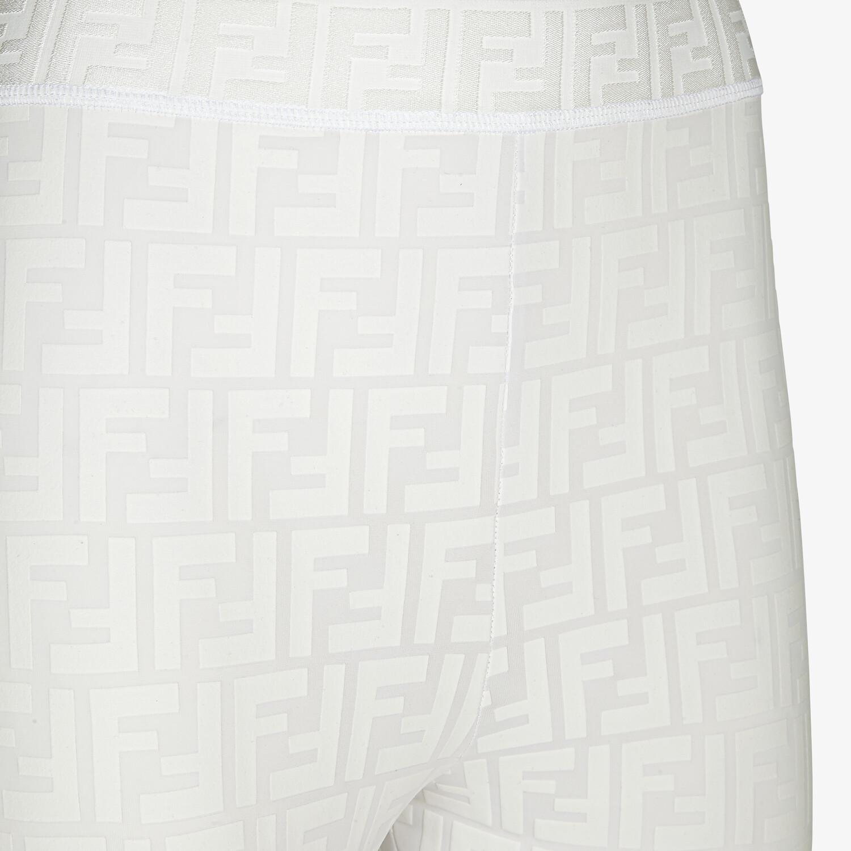 FENDI LEGGINGS - White tech fabric leggings - view 4 detail