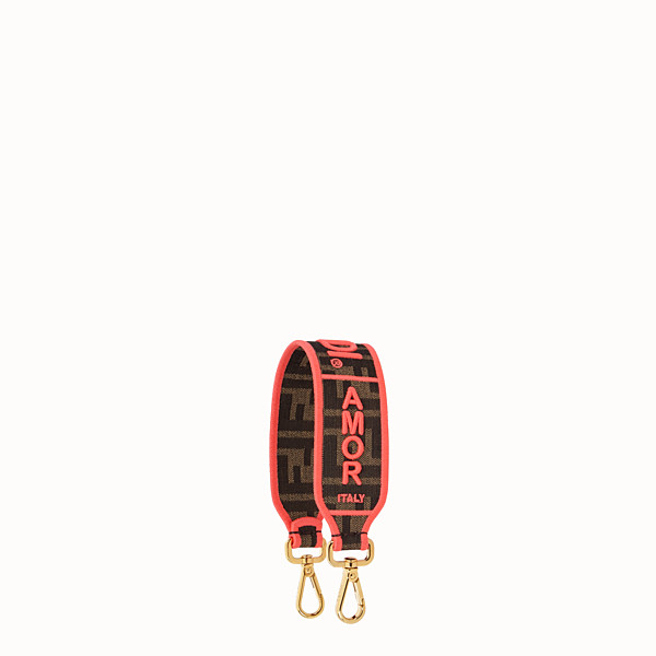 FENDI MINI STRAP YOU - Fendi Roma Amor Schulterriemen aus Stoff - view 1 small thumbnail