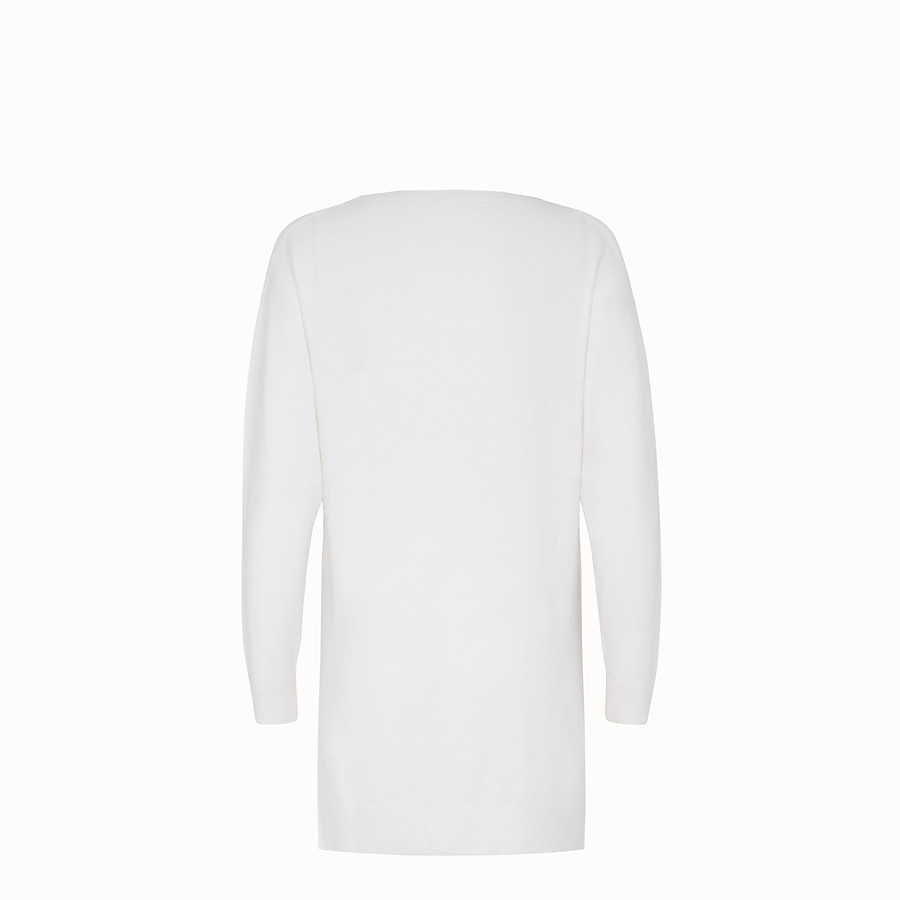 FENDI PULLOVER - White silk and cashmere jumper - view 2 detail