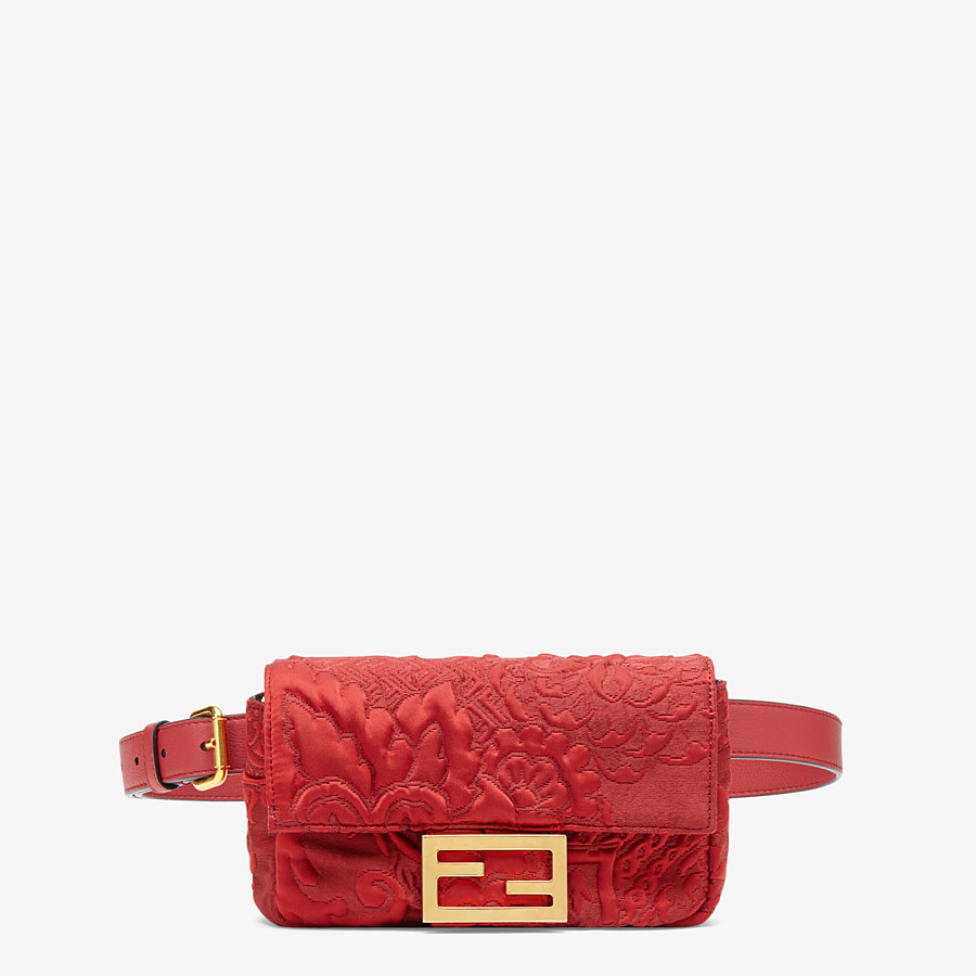 FENDI BELT BAG - Red fabric minibag - view 1 detail