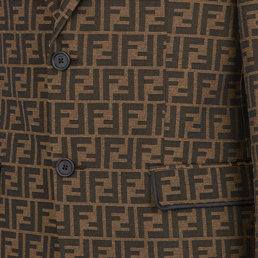 FENDI JACKET - Brown fabric blazer - view 4 detail