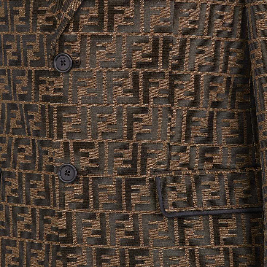 FENDI JACKET - Brown fabric blazer - view 4 detail