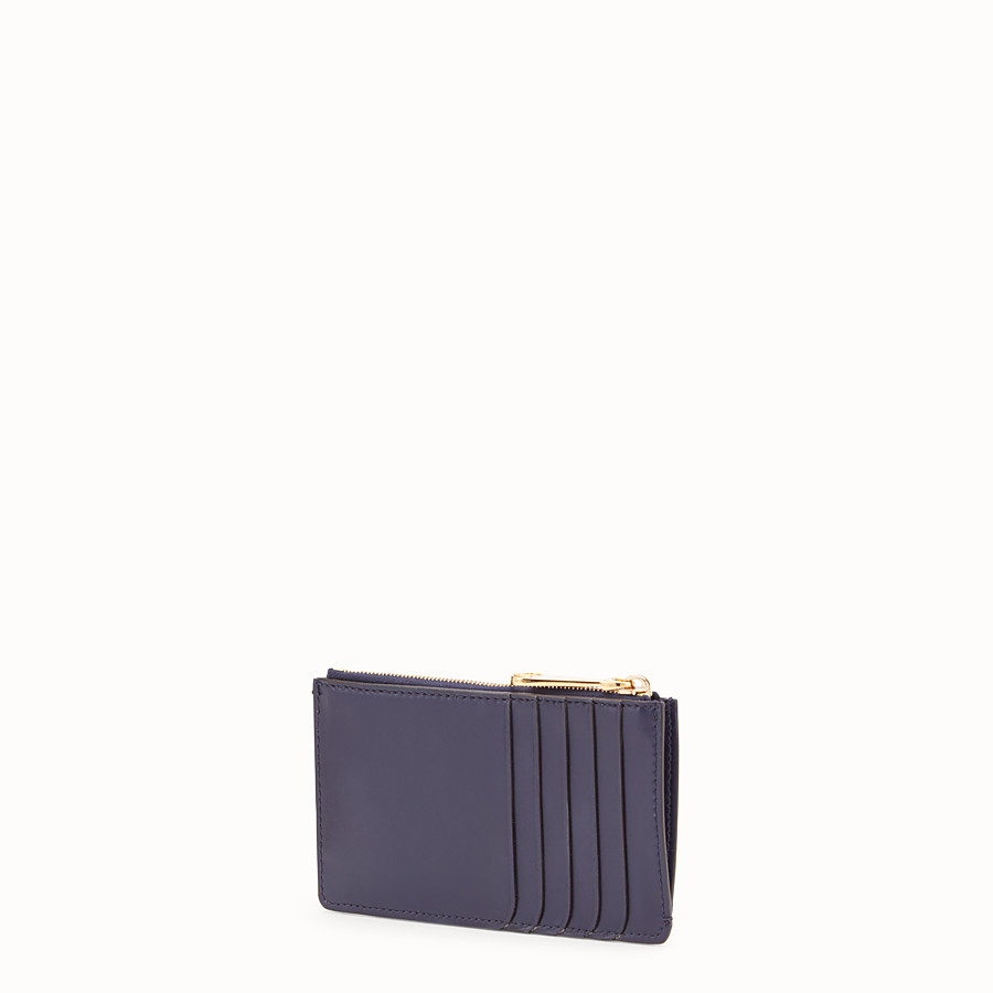 FENDI CARD POUCH - Blue leather pouch - view 2 detail