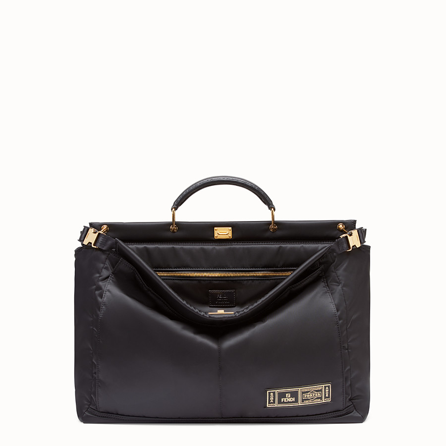 FENDI PEEKABOO MEDIUM FENDI AND PORTER - Black nylon bag - view 1 detail