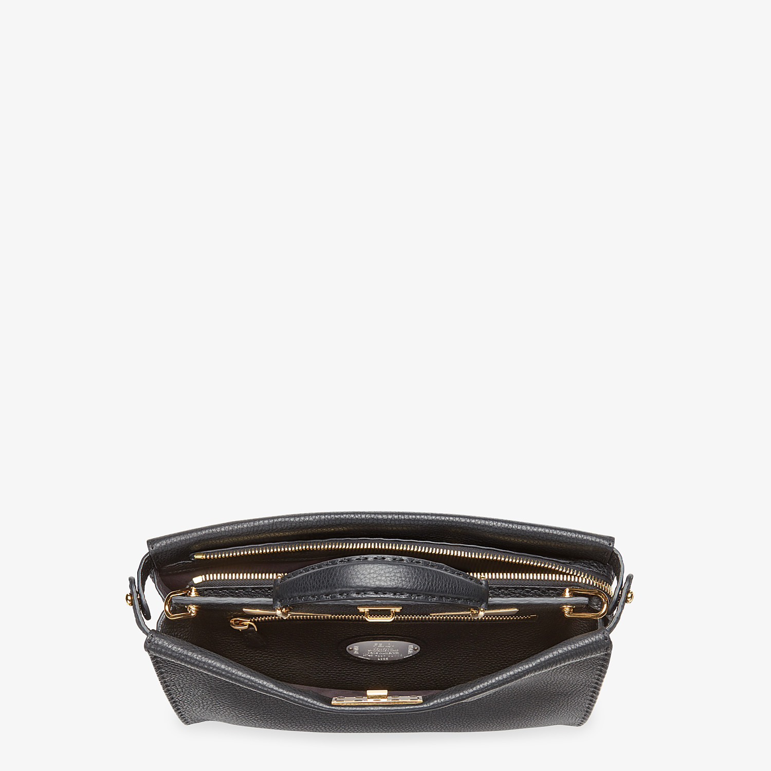 FENDI PEEKABOO ICONIC FIT - Black Roman leather bag - view 4 detail